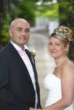 Ritratto dello sposo e della sposa Fotografie Stock