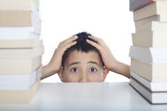 Ritratto dello studente di preoccupazione Fotografia Stock Libera da Diritti