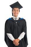 Ritratto dello studente universitario in abito di graduazione Fotografia Stock