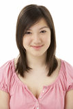 Ritratto dello studio dell'adolescente sorridente Fotografia Stock Libera da Diritti