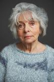 Ritratto dello studio della donna senior immagini stock