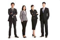 Ritratto dello studio della squadra cinese di affari Immagini Stock Libere da Diritti