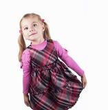 Ritratto dello studio di bella bambina con la fiera fotografie stock libere da diritti