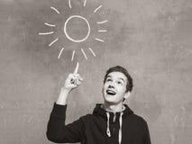 Ritratto dello studio di un ragazzo dell'adolescente Emozioni di una persona, afflatus fotografie stock libere da diritti