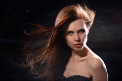 Ritratto dello studio di una ragazza Fotografia Stock Libera da Diritti