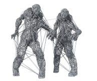 Ritratto dello zombie del mostro royalty illustrazione gratis