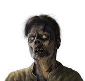 Ritratto dello zombie - su bianco illustrazione di stock