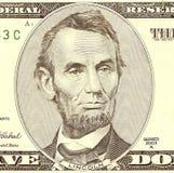 Ritratto di Abraham Lincoln Fotografie Stock Libere da Diritti