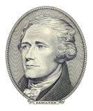 Ritratto di Alexander Hamilton Fotografia Stock Libera da Diritti