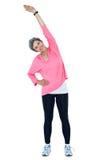 Ritratto di allungamento maturo della donna Fotografia Stock
