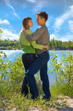 Ritratto di amore in natura immagine stock libera da diritti