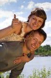 Ritratto di amore in natura immagine stock