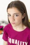 Ritratto di 15 anni dell'adolescente Immagine Stock Libera da Diritti