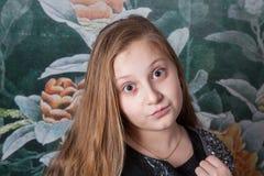 Ritratto di 10 anni della ragazza Immagine Stock Libera da Diritti