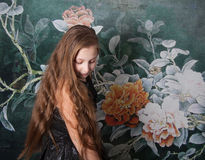 Ritratto di 10 anni della ragazza Fotografia Stock