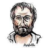 Ritratto di Aristotele illustrazione vettoriale