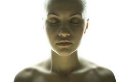 Ritratto di arti della ragazza elegante fotografia stock libera da diritti