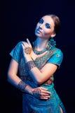 Ritratto di arti di bello indiano di modo fotografie stock libere da diritti