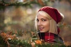 Ritratto di autunno di giovane donna Immagine Stock