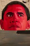 Ritratto di Barack Obama, pittura a olio Immagine Stock Libera da Diritti
