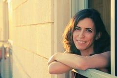 Ritratto di bei 35 anni della donna Fotografia Stock Libera da Diritti
