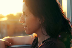 Ritratto di bei 35 anni della donna Fotografie Stock Libere da Diritti
