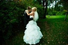 Ritratto di bei sposa e sposo Immagini Stock