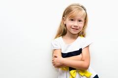 Ritratto di bella bambina allegra Fotografie Stock Libere da Diritti