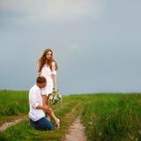 Ritratto di bella coppia Fotografia Stock