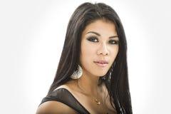 Ritratto di bella donna asiatica Fotografia Stock Libera da Diritti