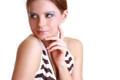 Ritratto di bella donna attraente Immagini Stock Libere da Diritti