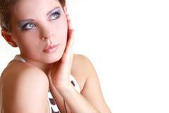 Ritratto di bella donna attraente Immagini Stock