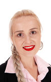 Ritratto di bella donna bionda immagini stock