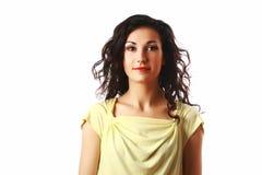 Ritratto di bella donna con capelli ricci Immagine Stock