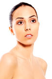 Ritratto di bella donna della stazione termale Fotografie Stock Libere da Diritti