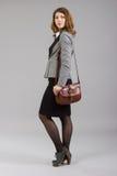 Ritratto di bella donna di affari Fotografie Stock Libere da Diritti