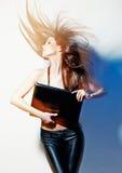Ritratto di bella donna piacevole fotografia stock