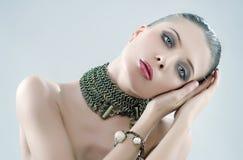 Ritratto di bella donna romantica Fotografia Stock