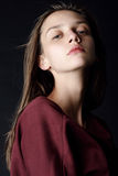 Ritratto di bella donna sensuale, primo piano fotografie stock libere da diritti
