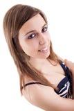 Ritratto di bella femmina Fotografie Stock