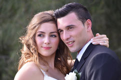 Ritratto di bella giovane coppia fotografie stock libere da diritti
