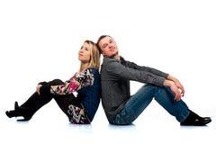 Ritratto di bella giovane coppia felice Fotografia Stock