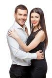 Ritratto di bella giovane coppia sorridente felice immagini stock