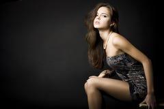 Ritratto di bella giovane donna Immagine Stock