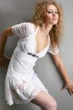 Ritratto di bella giovane donna. Immagini Stock