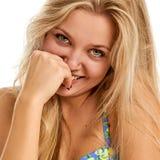 Ritratto di bella giovane donna allegra Immagine Stock