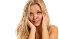 Ritratto di bella giovane donna allegra Immagini Stock