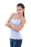 Ritratto di bella giovane donna asiatica immagine stock libera da diritti