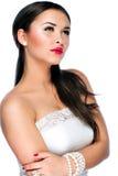 Ritratto di bella giovane donna caucasica Fotografie Stock
