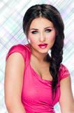 Ritratto di bella giovane donna caucasica Immagini Stock